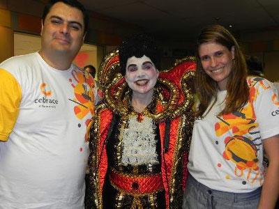 Mary Art participa do desfile de carnaval em São Paulo