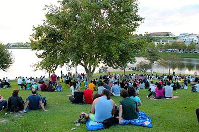 Projeto entardecer no Parque do lago